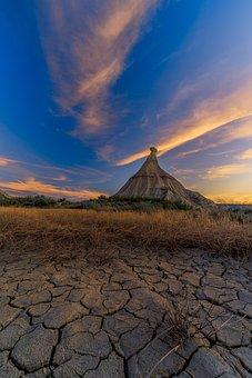 Desert, Ground, Rock, Spain, Sand, Dry, Landscape, Sky