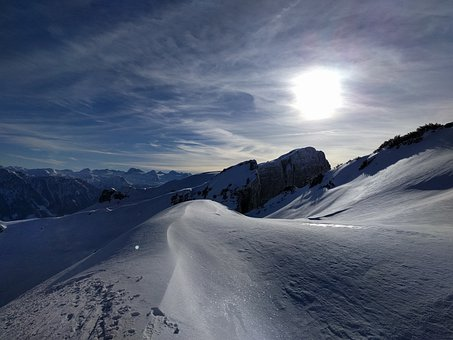 Snow, Mountain, Winter, Sky, Austria, Skiing