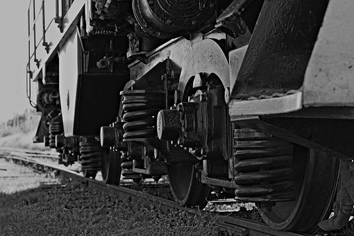 Train, Alloy Wheels, Springs, Steam Locomotive, Railway