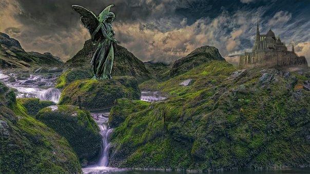 Fantasy, Angel, Wing, Statue, Mysticism, Gothic