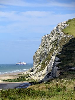 Cliff, Beach, Ship, Boat, Cruise, Rocks, Coast, Shore