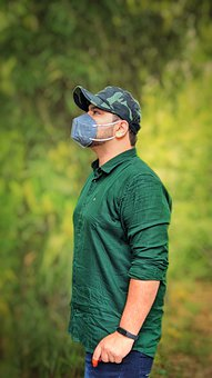 Man, Model, Casual, Facemask, Face Protection, Hygiene
