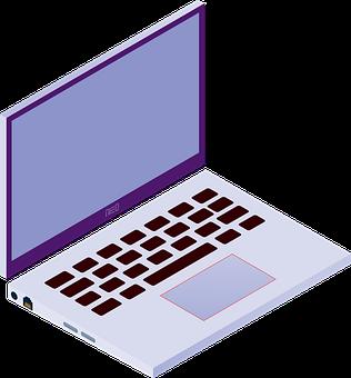 Laptop, Computer, Screen, Keyboard, Isometric