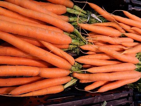 Carrots, Vegetables, Food, Market, Fresh, Orange