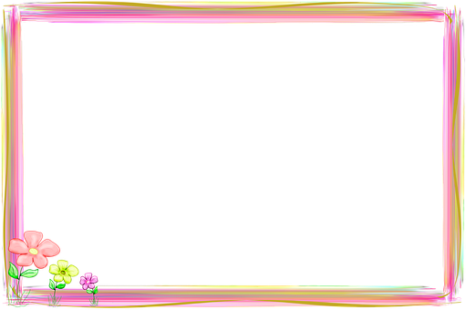 Edge, Frame, List, Framing, New, Merry, Pink, Yellow