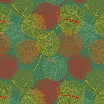 Digital Paper, Fall, Autumn, Wood, Leaves, Pattern