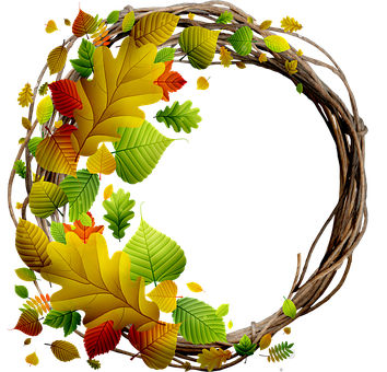 Wreath, Floral, Autumn, Fall, Pumpkin, Spring, Flowers