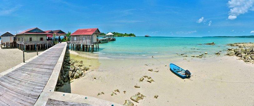 Beach, Sea, Ocean, Pier, Sand, Paradise, Tropical