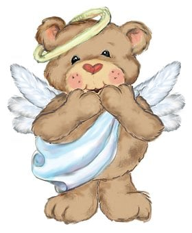 Bear, Teddy, Smile, Cute, Sweet, Kids, Surprise, Angel