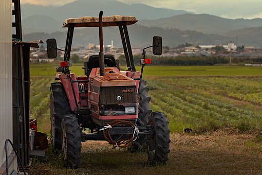 Tractor, Farm, Agriculture, Rural, Countryside, Old