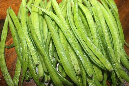 Cluster, Bean, Cluster Bean, Beans, Vegetable, Guar