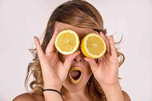 Lemon, Women, Citric, Model, Yellow, Beauty, Admiration