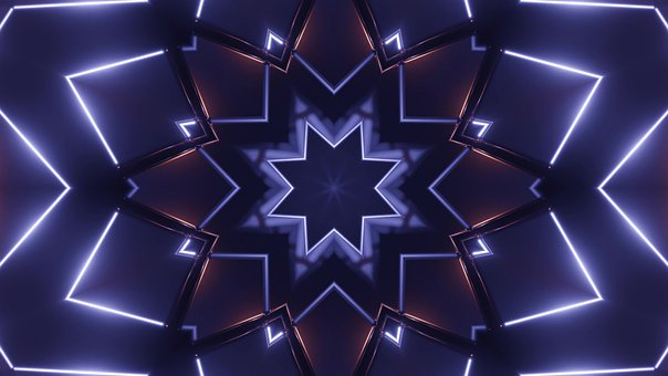 Blue, Star, Wallpaper, Background, Design, Abstract