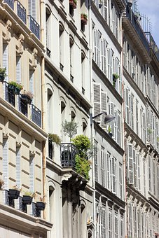 Building, Windows, Balcony, Architecture, Paris, France