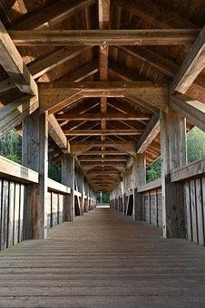 Wood, Bridge, Wooden Bridge, Structure, Railing