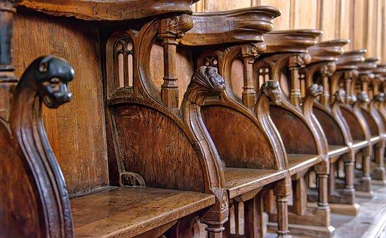 Chair, Church, Chapel, Choir Stalls, Dom, Choir