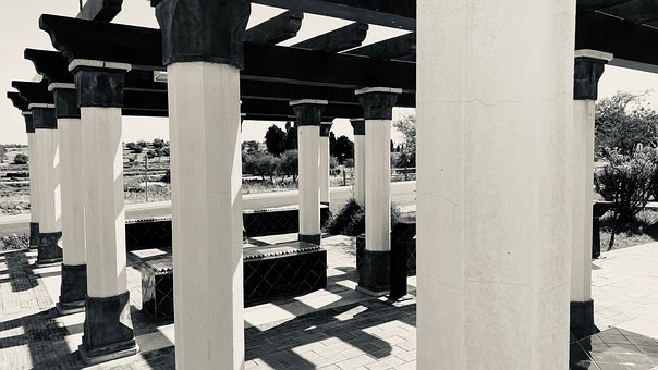 Columns, Building, Structure, Architecture, Park, Trees