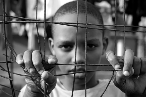 Boy, Kid, Fence, Face, Cell, Prison, Young, Jail, Male