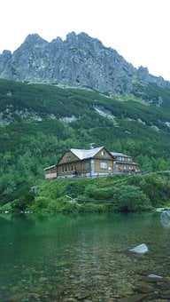 Cabin, Cottage, Hut, House, Mountains, Forest, Trees