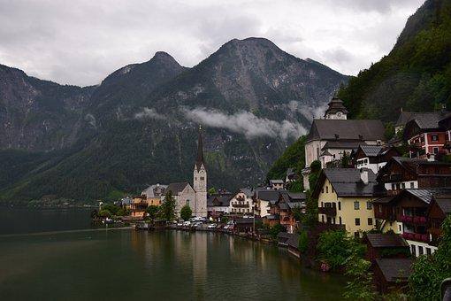 Village, Lake, Hallstatt, Hallstättersee Lake, Bergsee
