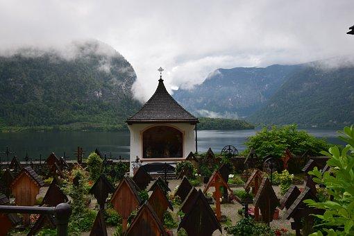 Grave, Lake, Hallstatt, Hallstättersee Lake, Cemetery