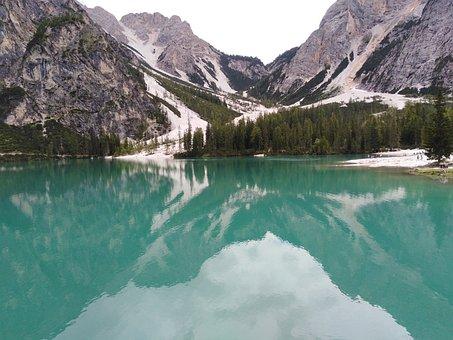 Mountains, Lake, Water, Reflection, Mirror, Travel