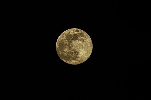 Moon, Full Moon, Moonlight, Sky, Cosmos, Universe