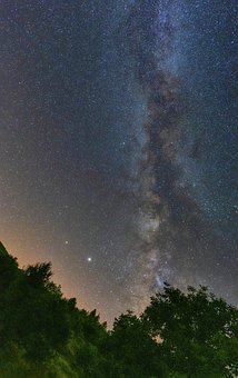 Milky Way, Galaxy, Universe, Night, Sky