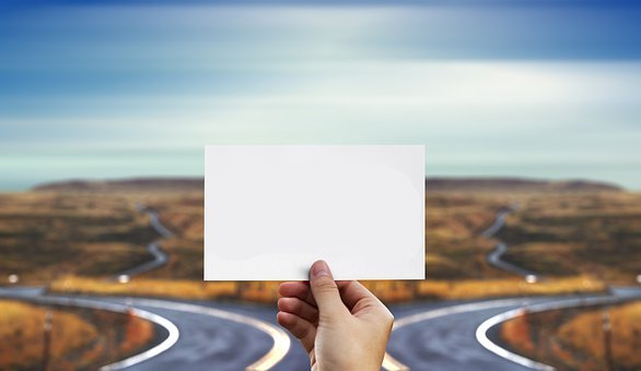 Road, Highway, Hand, List, Mockup, Panorama, Direction