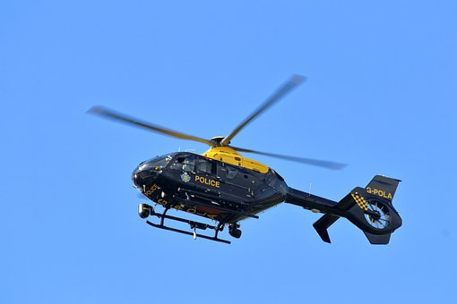 Helicopter, Police, Flying, Emergency Services, Vehicle
