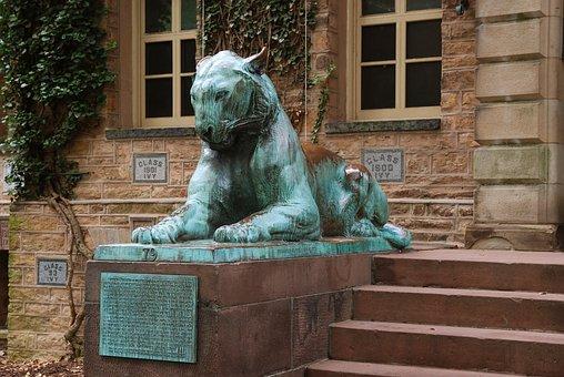 Campus, Princeton, University, Monument, Copper, Statue