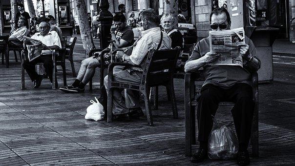 Barcelona, Human, Relaxation, Reading, La Rambla