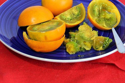 Fruit, Plate, Spoon, Fresh, Snack, Healthy