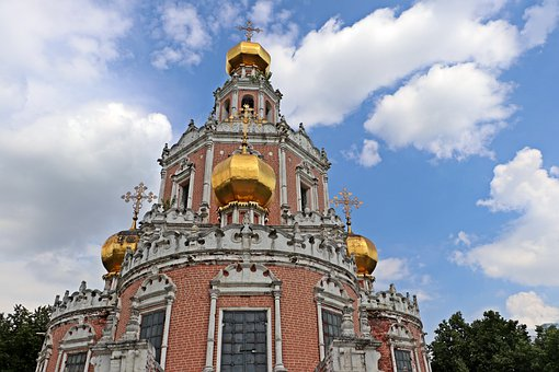 Church, Temple, Tower, Dome, Golden, Religion