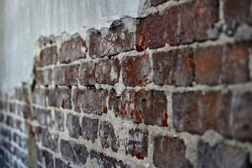 Brick, Plaster, Wall, Architecture, Building, Old, Red