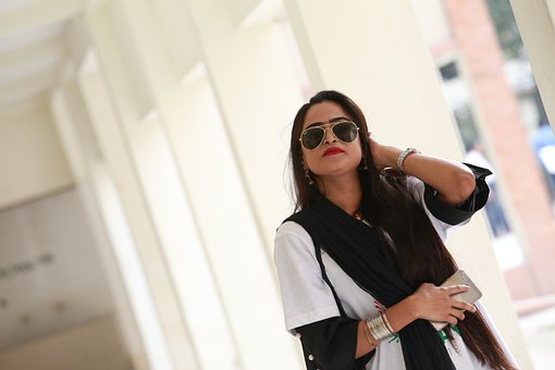 Woman, Model, Sunglasses, Casual, Lipstick, Bracelet