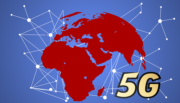 Map, World, Globe, Network, 5g, Technology, Web, Data
