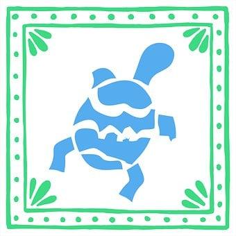 Embroidery, Crafts, Animal, Turtle, Mexican, Colorful