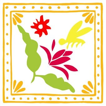 Embroidery, Crafts, Animal, Bug, Insect, Bird, Mexican