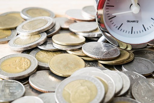 Coins, Currency, Money, Cash, Time, Value, Business