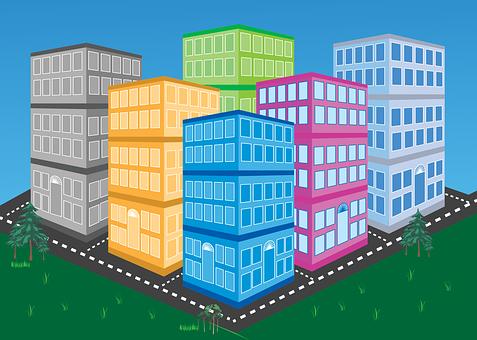 Buildings, City, Architecture, Town, Construction