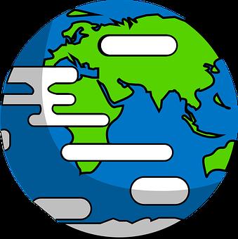 Earth, Globe, Planet, Map, Design, Cloud, Internet