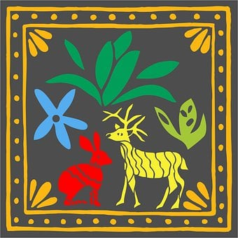 Embroidery, Crafts, Animal, Mexican, Colorful, Collage