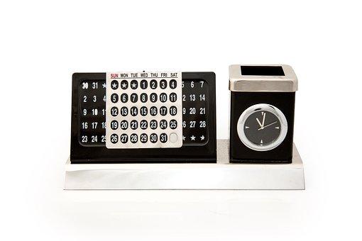 Desk Organizer, Desk Clock, Cardholder, Calendar