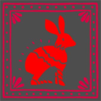 Embroidery, Crafts, Hare, Animal, Mexican, Collage