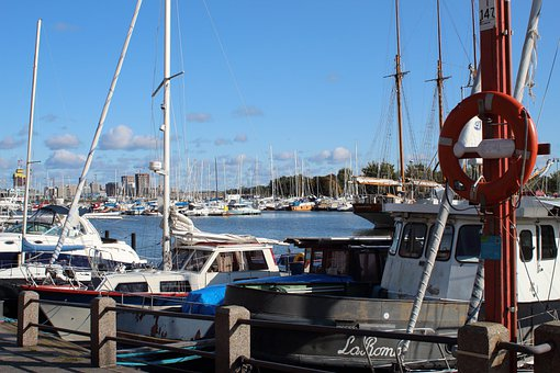Port, Boats, Ocean, Pier, Helsinki, Finland, City