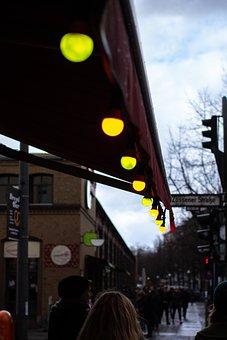 Lights, Roof, Street, City, Abendstimmung, Evening