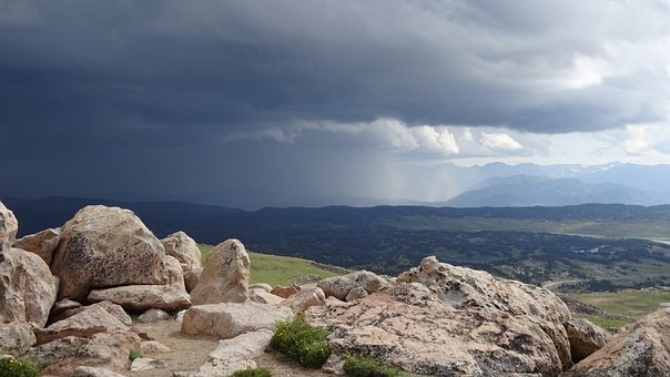 Rocks, Mountains, Thunderstorm, National Park
