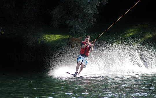 Water, Ski, Water Sports, Action, Slalom, Athlete