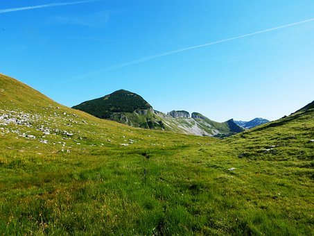 Mountains, Alpine, Meadow, Grass, Blue Sky, Austria